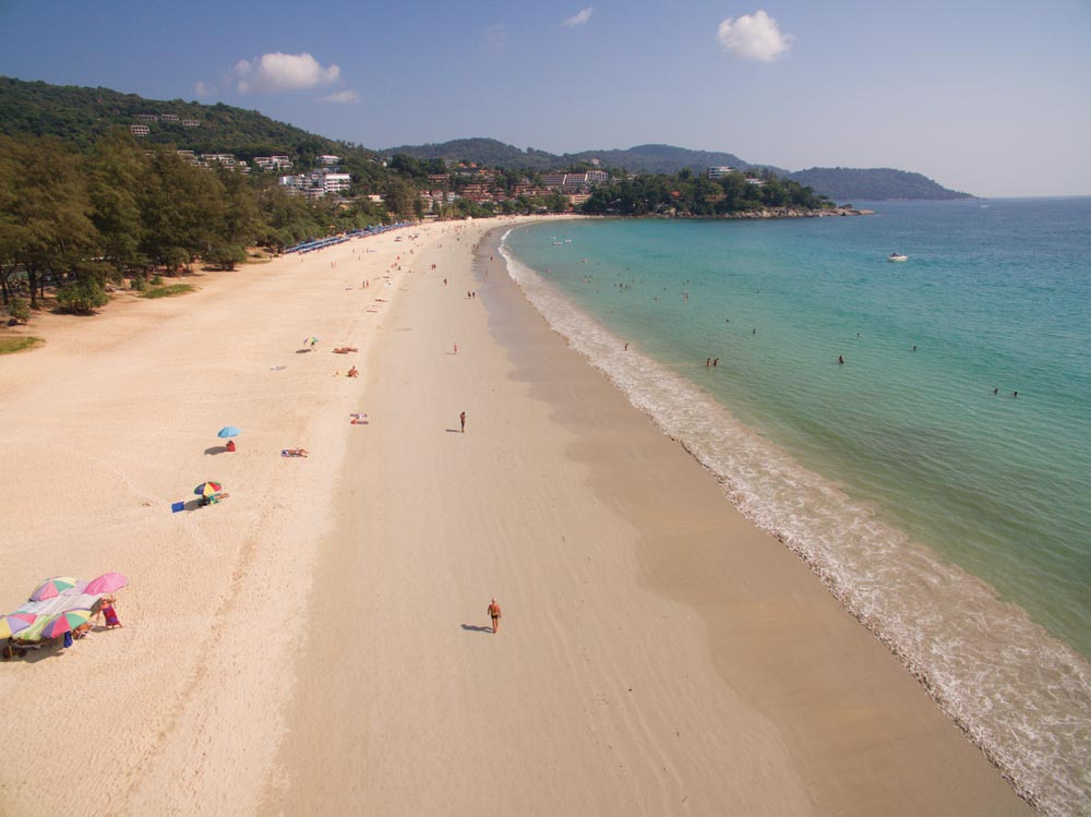 Karon Beach, on Phuket's west coast - once wall-to-wall umbrellas but now delightfully peaceful