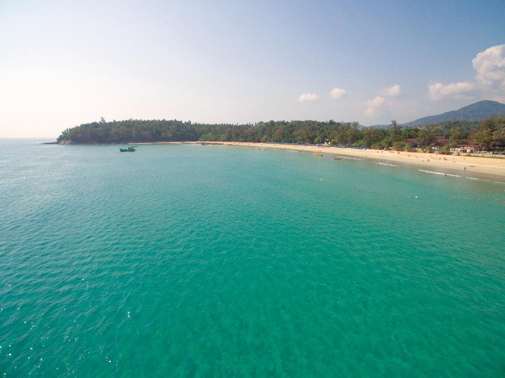 Kata Beach, one of Phuket's most famous and most beautiful beaches