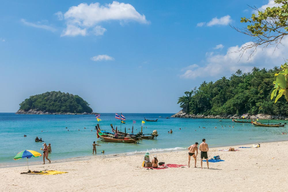 Kata-Beach in front of Club Med