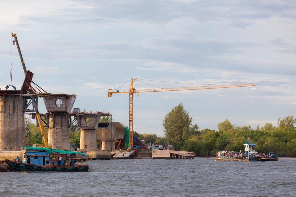 Koh Lanta bridge under construction