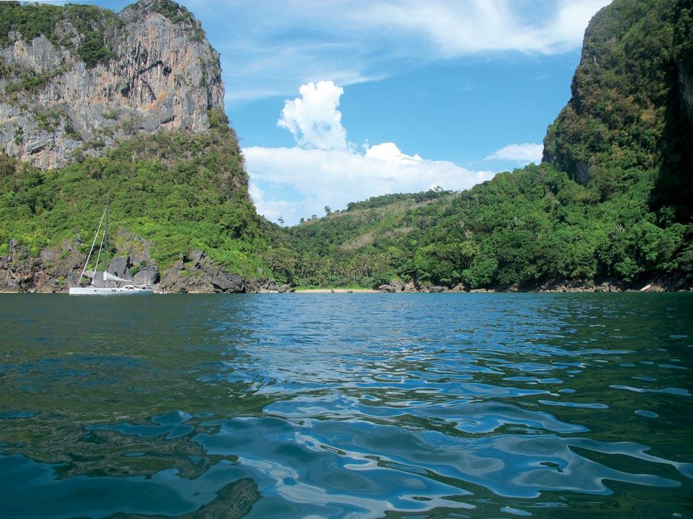 Quiet anchorage on Koh Muk