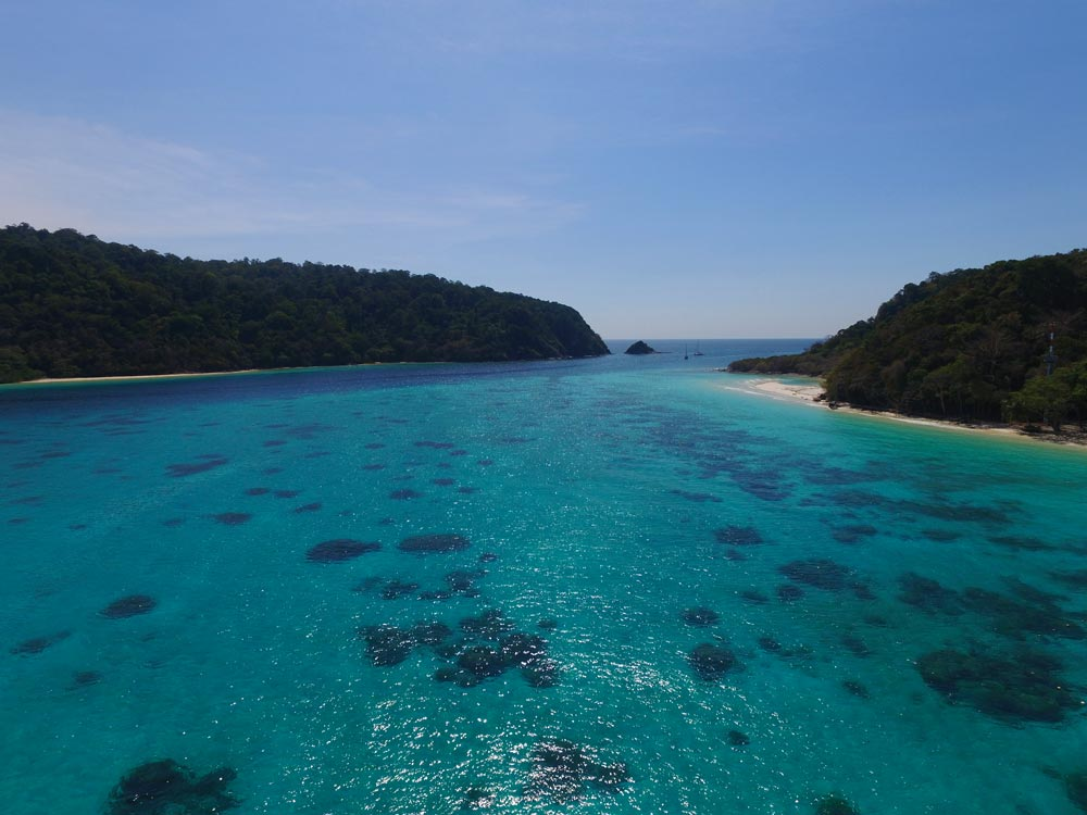The channel between Koh Rok Nai and Koh Rok Nok