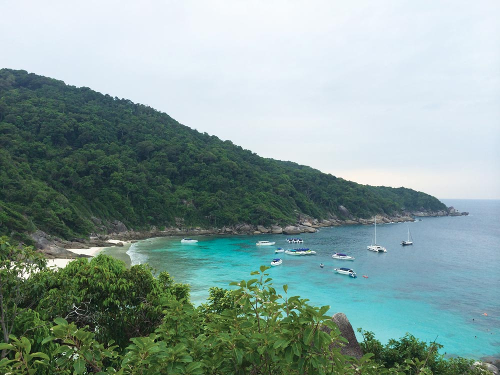 Koh Tachai when there were no restrictions on visiting speedboats