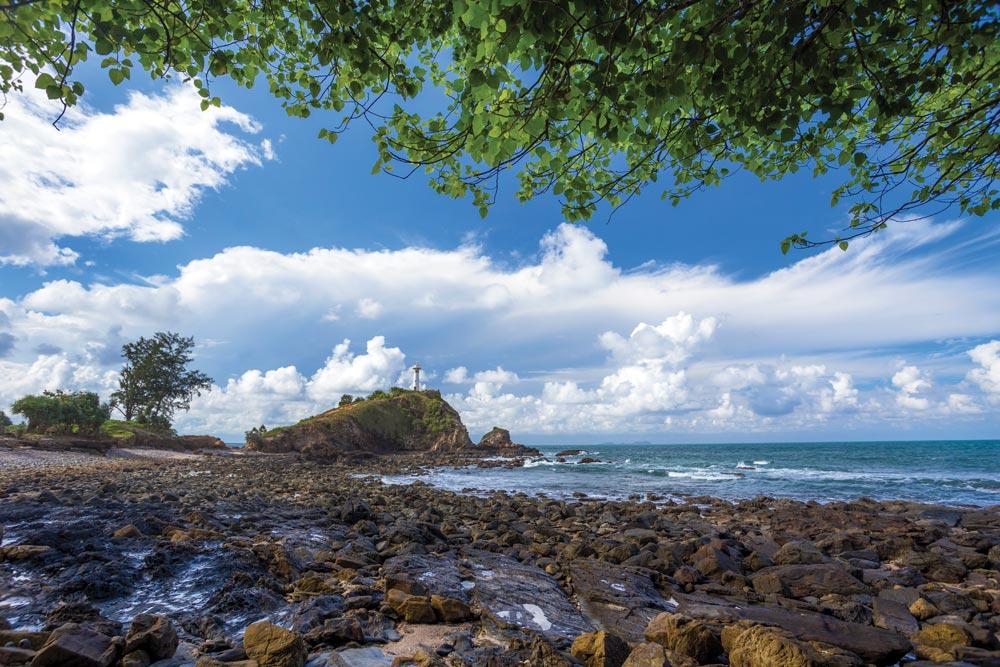 Rocky beach at Lanta Lighthouse