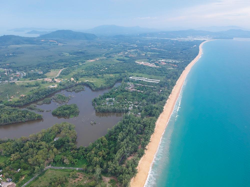 Mai Khao beach looking towards Phuket airport