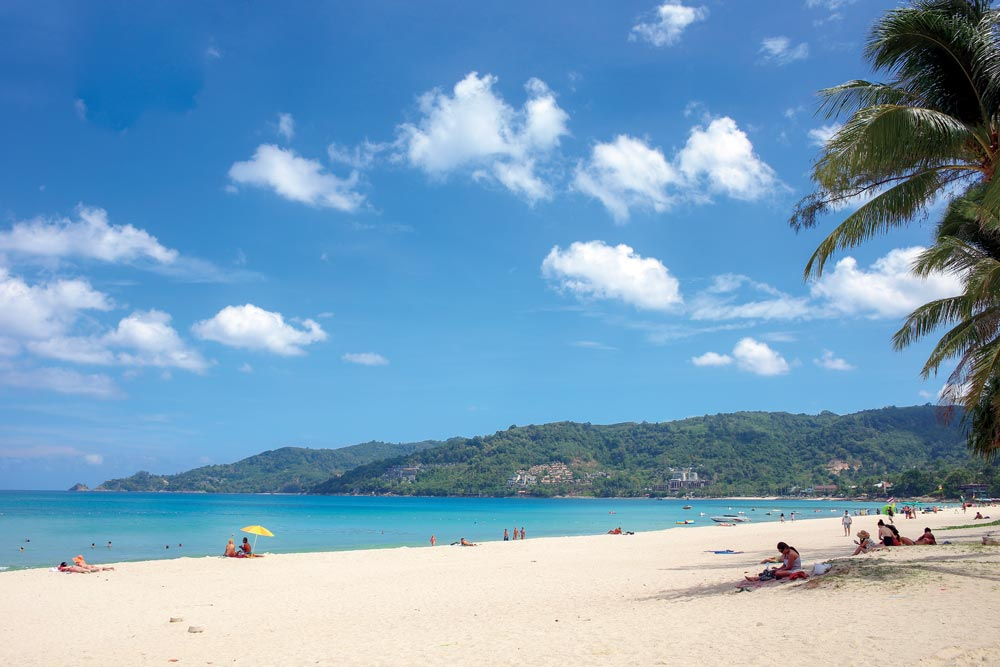 Patong Beach without sunbeds