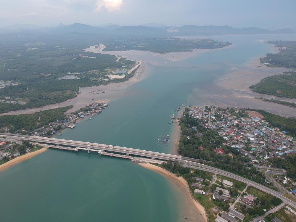 Bridge connecting Phuket with the Thai mainland