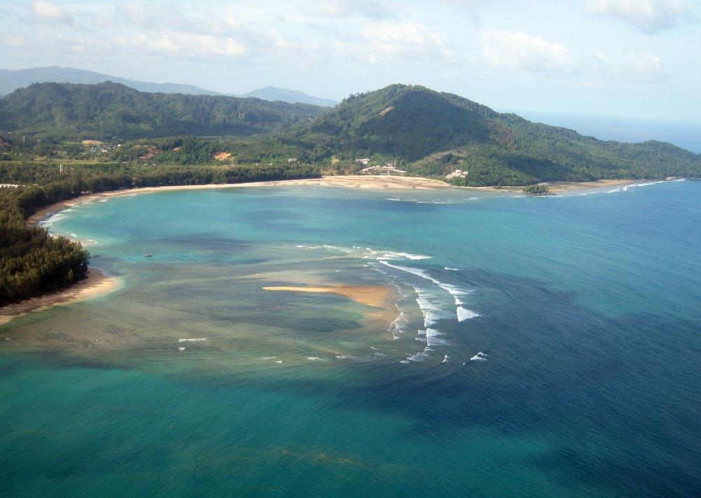 Nai Yang beach, just south of the airport runway on Phuket