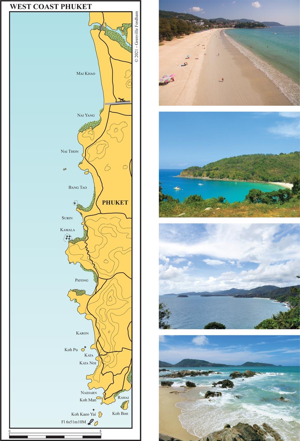 Phuket's west coast beaches